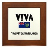 Viva The Pitcairn Islands Framed Tile
