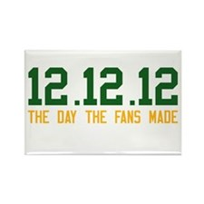 Green & Gold 12.12.12 Rectangle Magnet