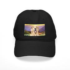 Golden Retriever Meadow Baseball Hat
