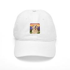 Golden Retriever Meadow Baseball Cap