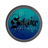 Solstice Greetings Wall Clock