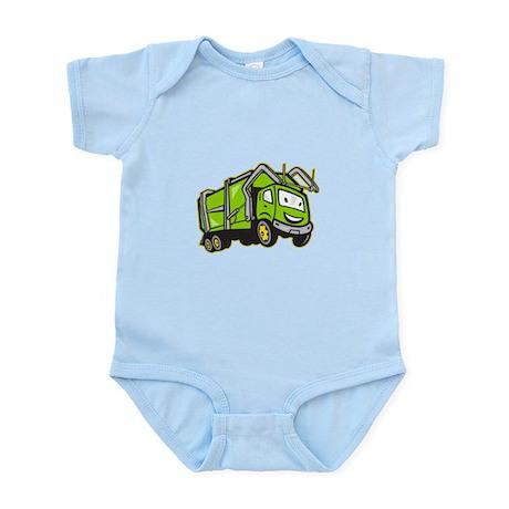 Garbage Rubbish Truck Cartoon Infant Bodysuit