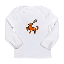 Dog With Lacrosse Stick Side View Long Sleeve Infa