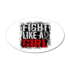 Fight Like a Girl 31.8 Diabetes 20x12 Oval Wall De