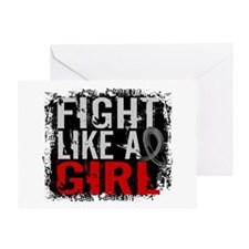 Fight Like a Girl 31.8 Diabetes Greeting Card