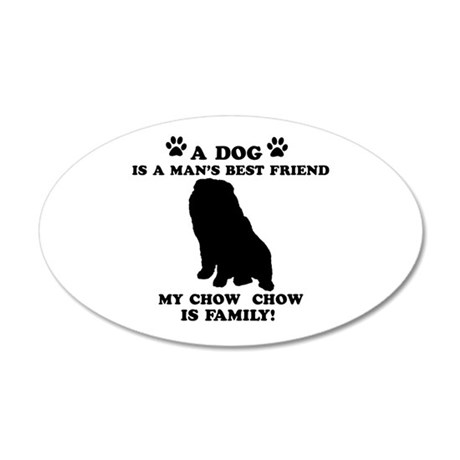 Chow Chow Dog Breed Designs 35x21 Oval Wall Decal