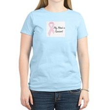 My Mom's a Survivor Women's Pink T-Shirt