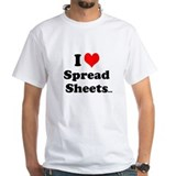 I Love Spreadsheets Rude & Cheeky Reasons T-Sh