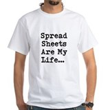 Spreadsheets My Life Demotivational Shirt