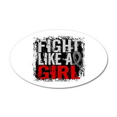 Fight Like a Girl 31.8 Brain Tumor 20x12 Oval Wall