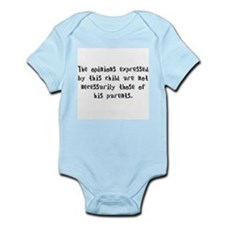 This child's opinions (Boy) Infant Bodysuit