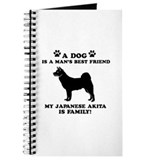 Japanese Akita Dog Breed Designs Journal