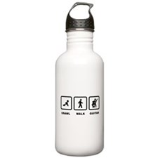 Classical Guitar Player Water Bottle