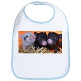 3 little micro pigs Bib