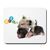 micro pigs sleeping Mousepad