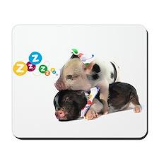 micro pigs sleeping Mousepad