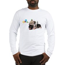 micro pigs sleeping Long Sleeve T-Shirt