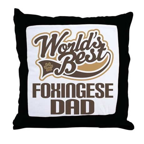 Foxingese Dog Dad Throw Pillow