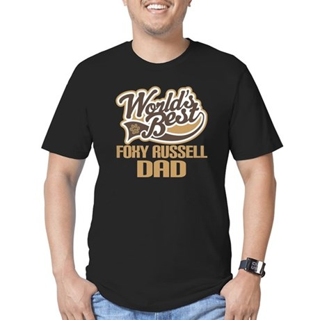 Foxy Russell Dog Dad Men's Fitted T-Shirt (dark)