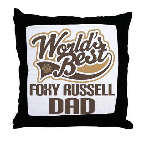 Foxy Russell Dog Dad Throw Pillow