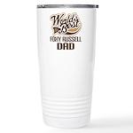 Foxy Russell Dog Dad Ceramic Travel Mug