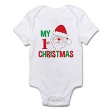 My 1st Christmas Santa Claus Infant Bodysuit