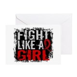 Fight Like a Girl 31.8 Stroke Greeting Card
