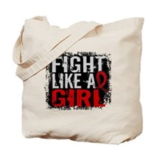Fight Like a Girl 31.8 Heart Disease Tote Bag