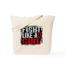 Fight Like a Girl 31.8 Heart Disease Tote Bag