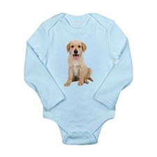 Golden Labrador Long Sleeve Infant Bodysuit