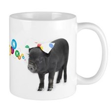 Little female micro pig with bow Mug