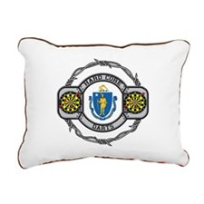 Massachusetts Darts Rectangular Canvas Pillow