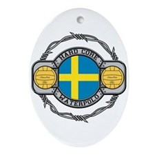 Sweden Water Polo Oval Ornament