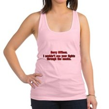 Sorry Officer Racerback Tank Top