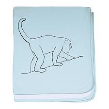 Walking Monkey. baby blanket