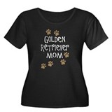 golden retriever mom wh Plus Size T-Shirt