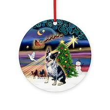 Unique Australian cattle dog christmas Ornament (Round)