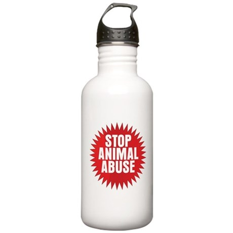 Stop Animal Abuse Stainless Water Bottle 1.0L