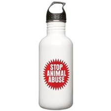 Stop Animal Abuse Water Bottle