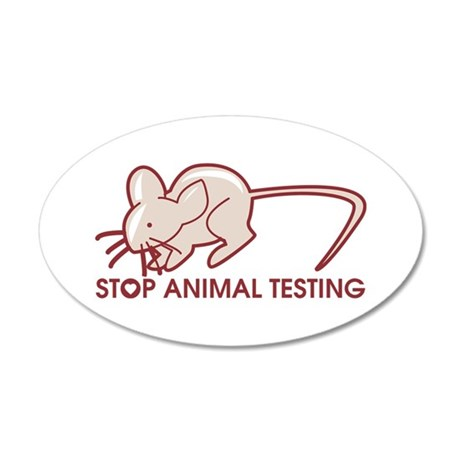 Stop Animal Testing 20x12 Oval Wall Decal