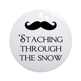 'Staching Through The Snow Ornament (Round)