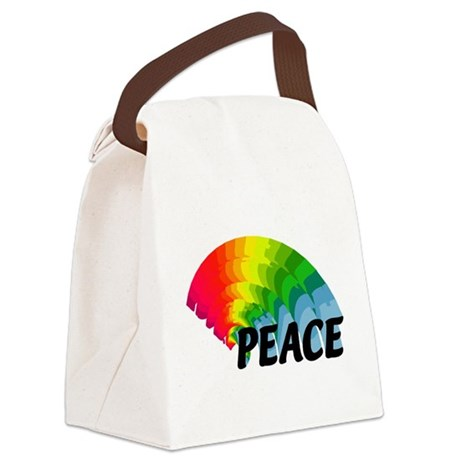 rainbowpeace.png Canvas Lunch Bag
