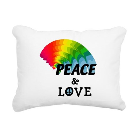 peacelove.png Rectangular Canvas Pillow