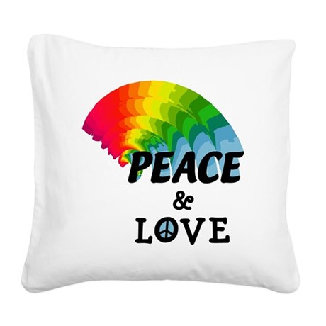 peacelove.png Square Canvas Pillow