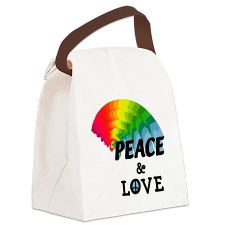 peacelove.png Canvas Lunch Bag