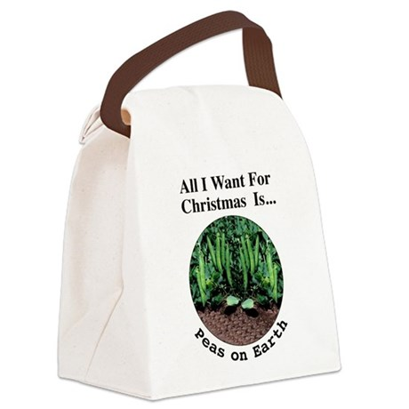 xmasPeasOnEarthT.png Canvas Lunch Bag