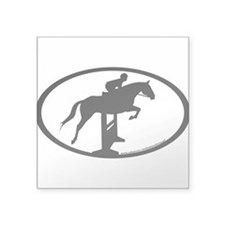 Hunter Jumper O/F (inner border) Oval Sticker