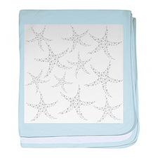 Dotty Gray Starfish. baby blanket