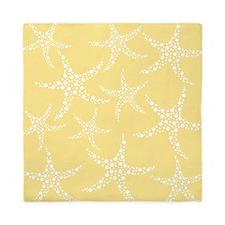 Dotty Starfish, Yellow. Queen Duvet