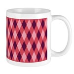 Argyle in Cranberry Mug